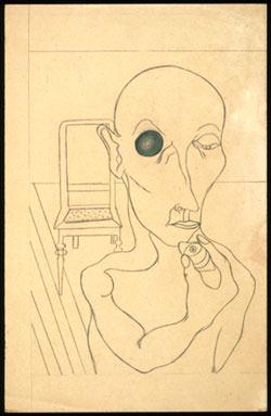 Angelika Hoerle Man with Eye Removed