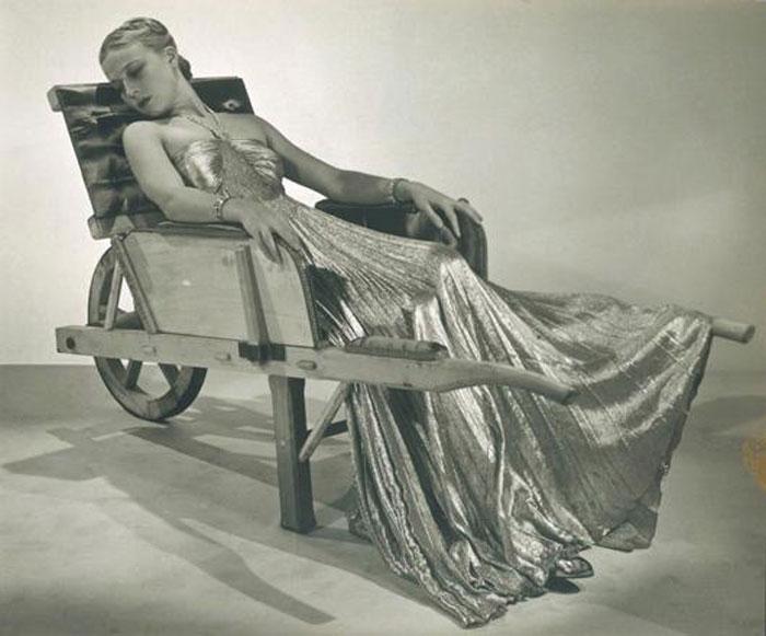 Man Ray - Model in a Dominguez Wheelbarrow